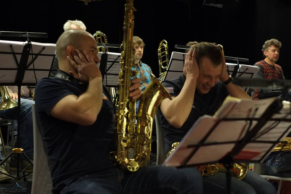 Джаз-оркестр Николая Баранова на репетиции