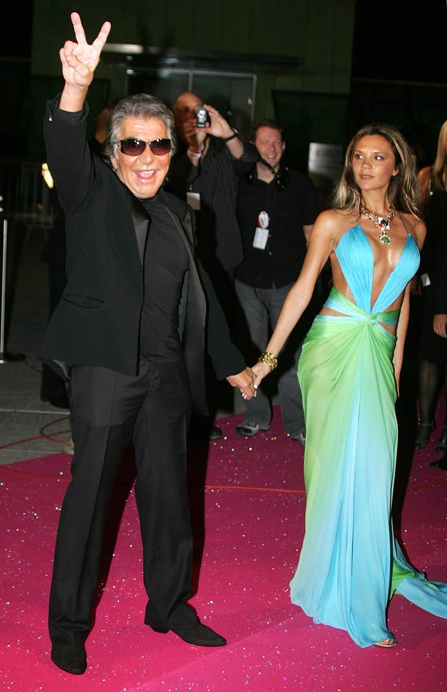 Роберто Кавалли и Виктория Бекхэм, 2005 год