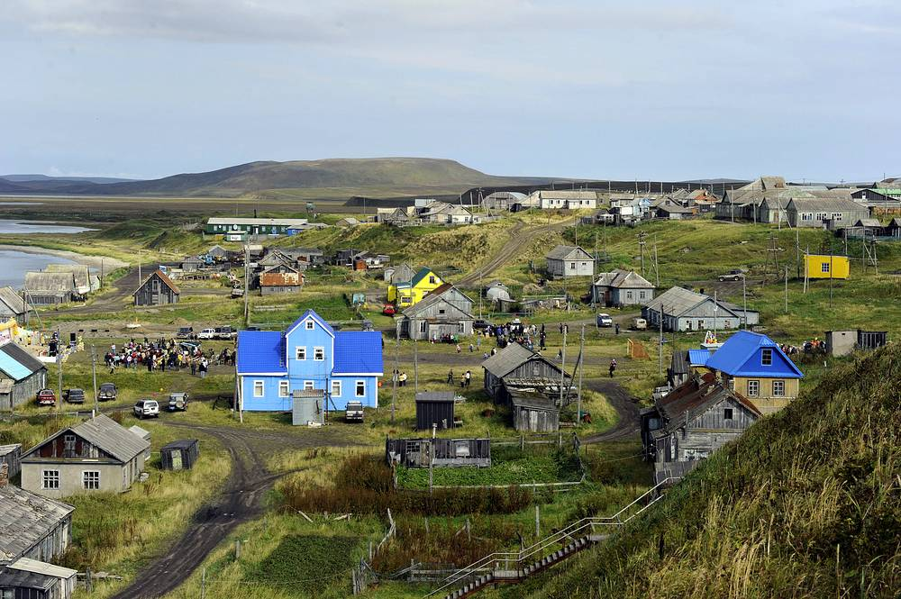 Архипелаг Командорские острова в Беринговом море в списке на включение в лист ЮНЕСКО с 2005 года. На фото: село Никольское на острове Беринга