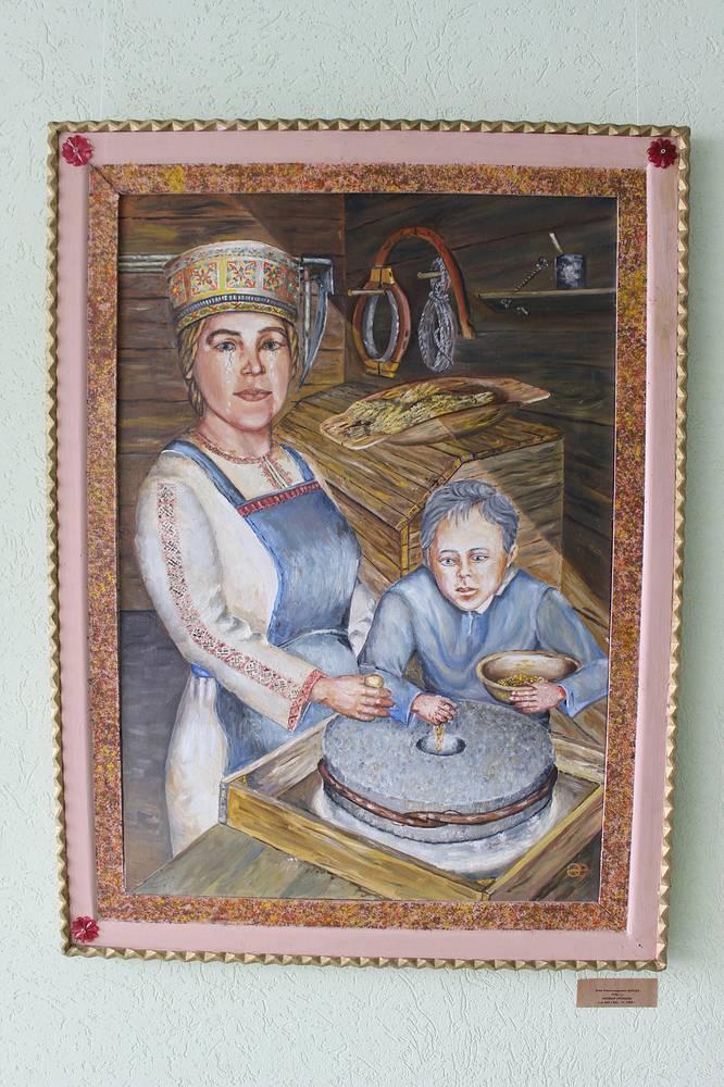 """""""Новый урожай"""". Эчик Барцев. Холст, масло. 1999 год"""