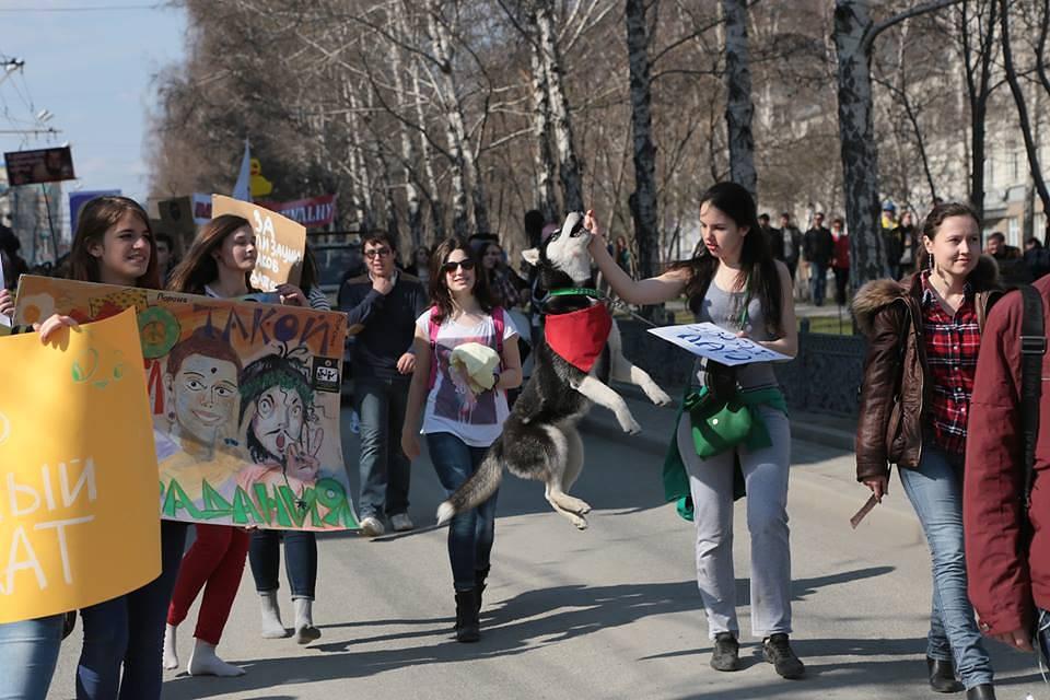 Монстрация в Новосибирске