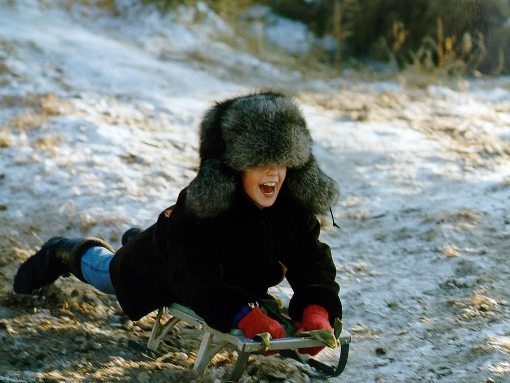 Читинские дети на зимних каникулах, 2002 год