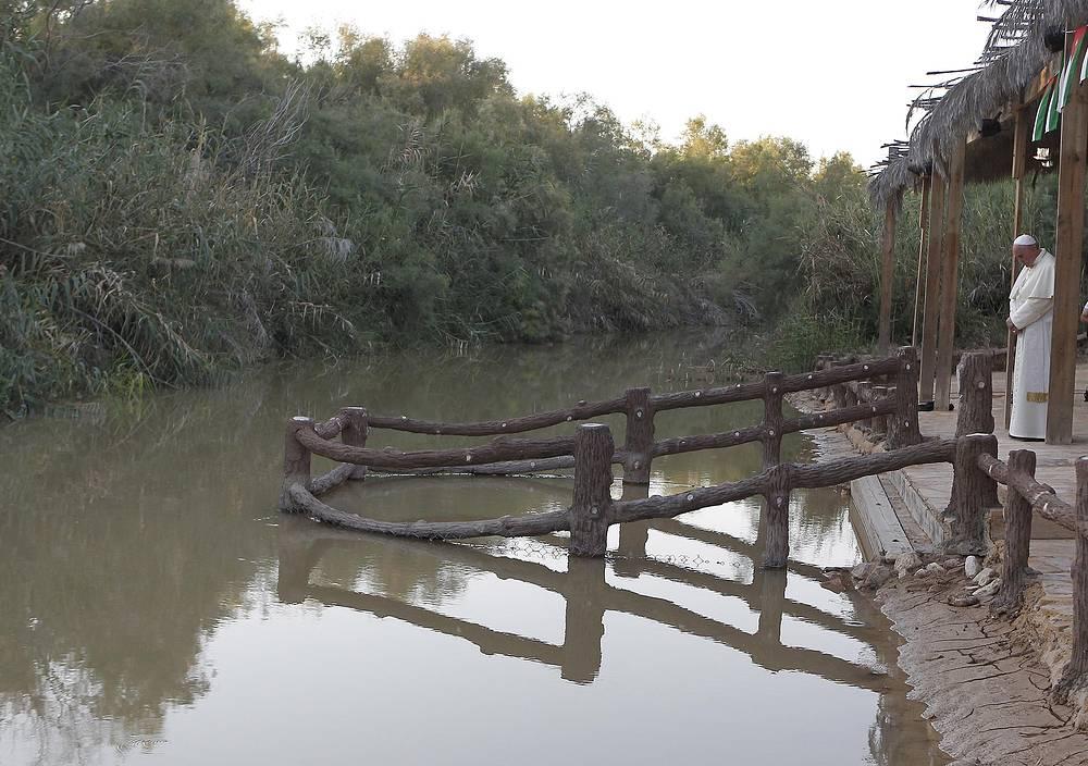 На месте крещения Христа у реки Иордан, 24 мая
