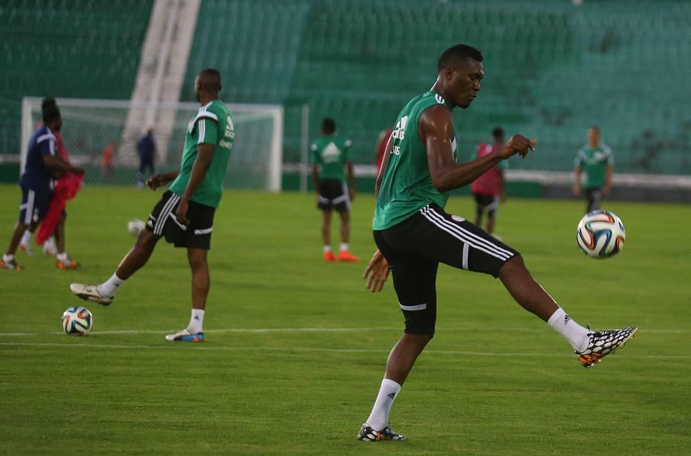 Нигерийцы готовятся к матчу с Ираном