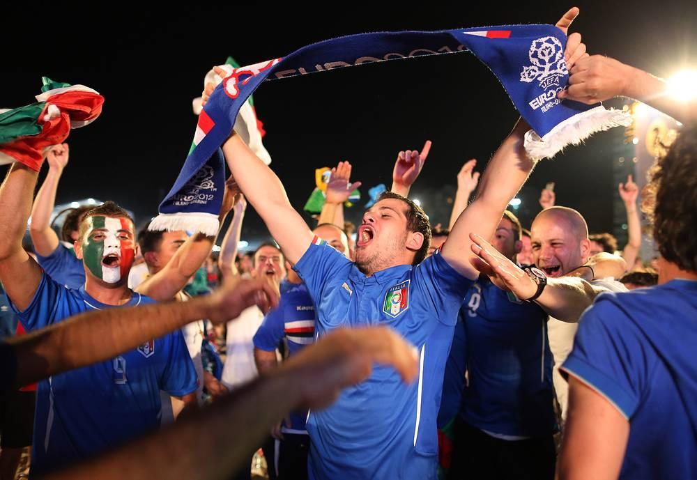 Итальянские болельщики без ума от счастья
