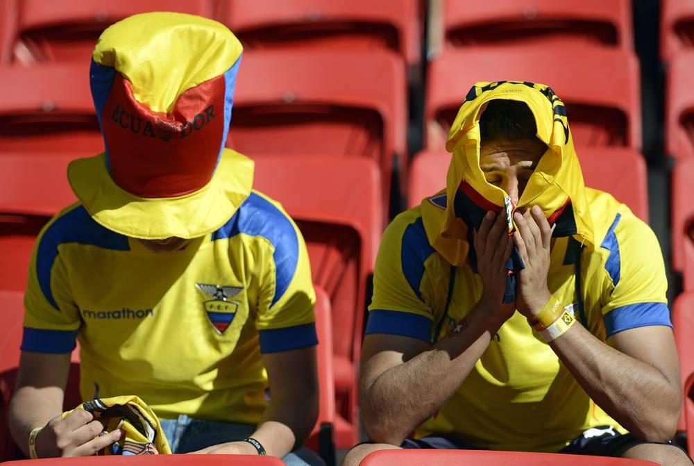 Расстроенные эквадорские фанаты