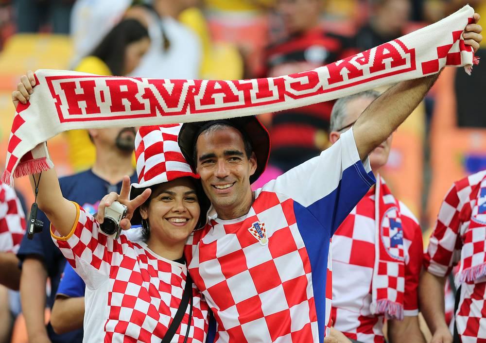 Болельщики сборной Хорватии
