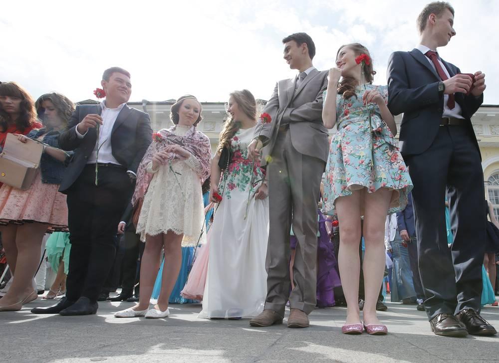 Выпускники в Александровском саду