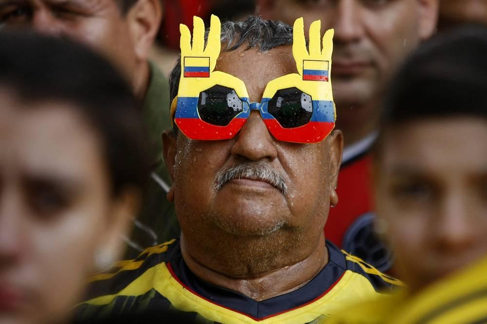 Колоритный поклонник сборной Колумбии