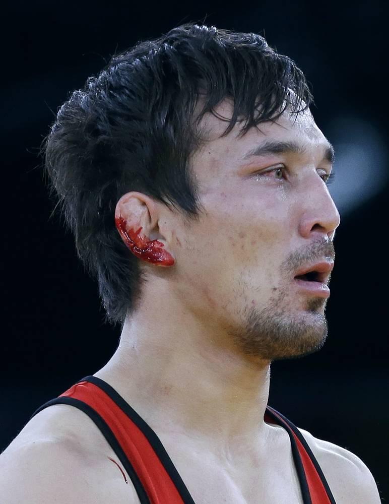 Представители Казахстана подали протест, однако итоги встречи не были пересмотрены. Позднее Сушил Кумар извинился перед казахским спортсменом за инцидент. На фото: Акжурек Танатаров