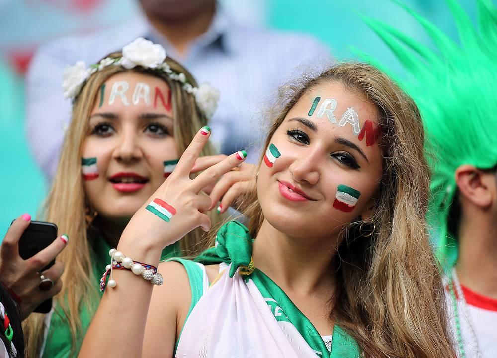 Болельщицы сборной Ирана
