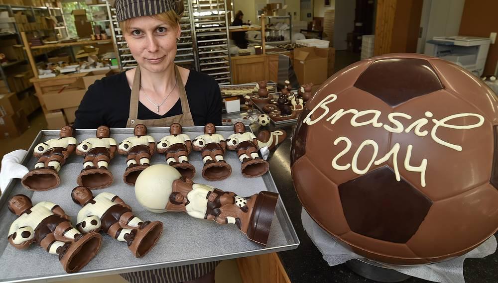 К чемпионату мира в Бразилии в Германии выпустили шоколадные копии игроков национальной сборной