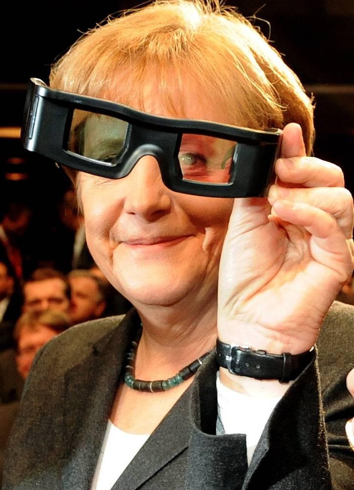 Ангела Меркель на открытии ежегодной выставки информационно-коммуникационных технологий CeBIT в Ганновере. 2010 год