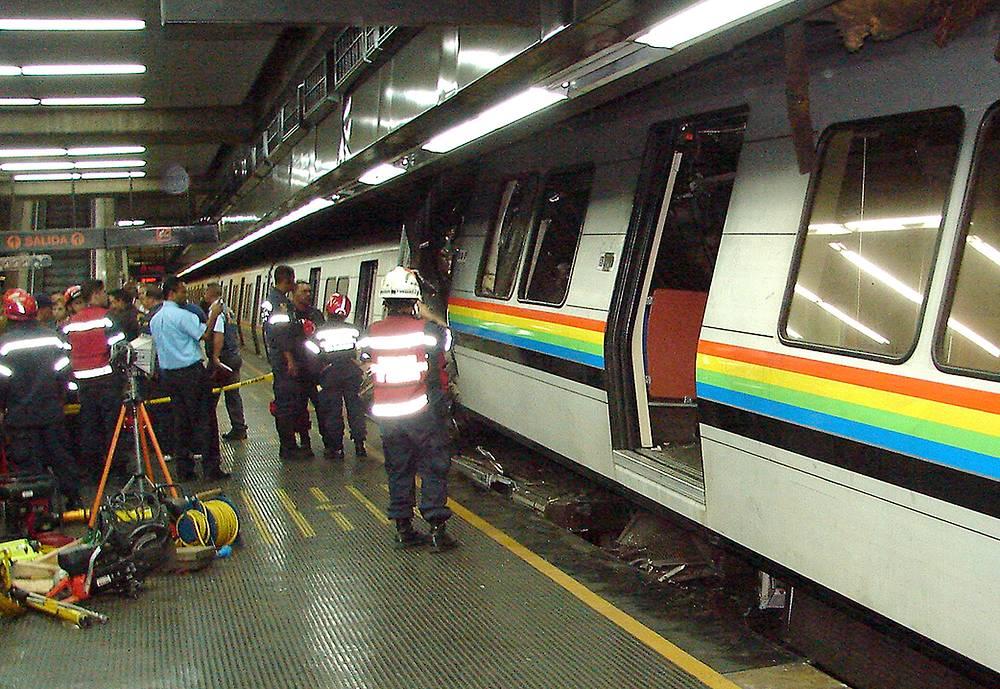 Столкновения двух поездов метро в Каракасе, Венесуэла, 31 июля 2007 года