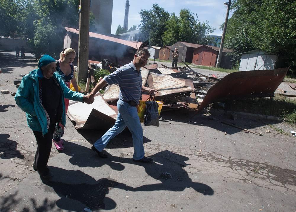 Три снаряда попали на территорию парка культуры и отдыха им. А. С. Щербакова в городские пруды
