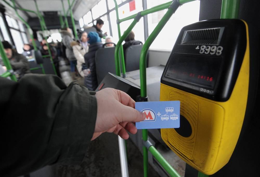 Первые турникеты появились в автобусах Солнцевского автобусного парка, 2003 год