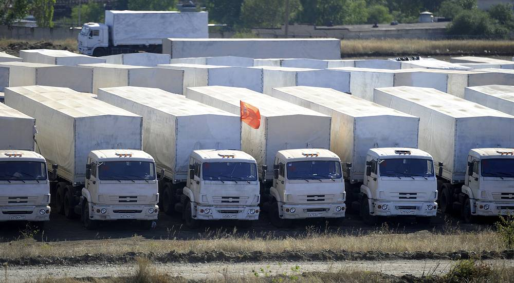 Колонна неделю простояла на российско-украинской границе