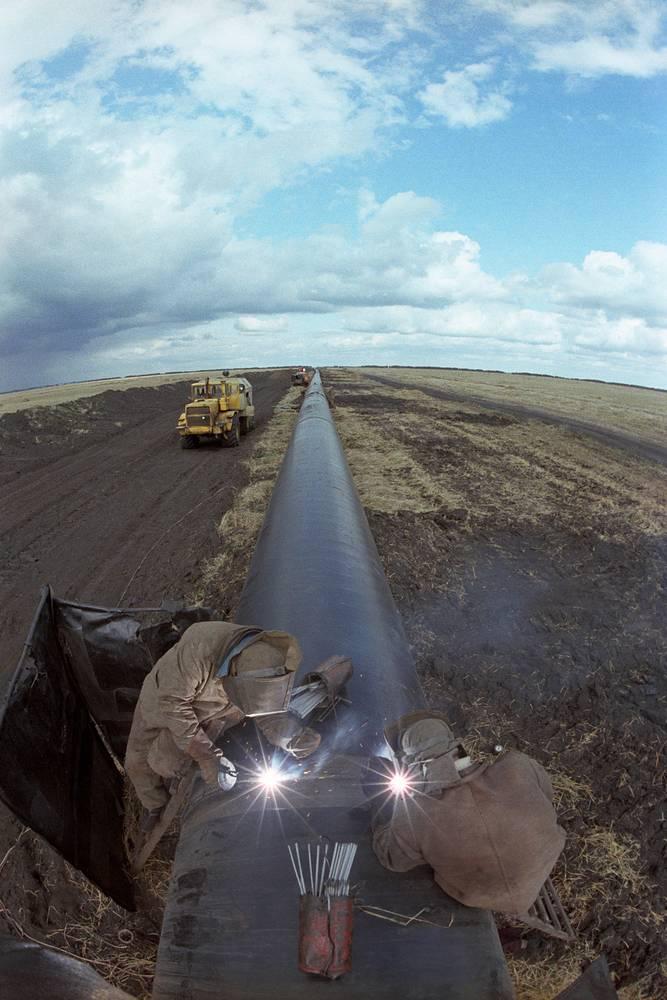 Тамбовский участок трассы газопровода Уренгой - Ужгород, 1982 год