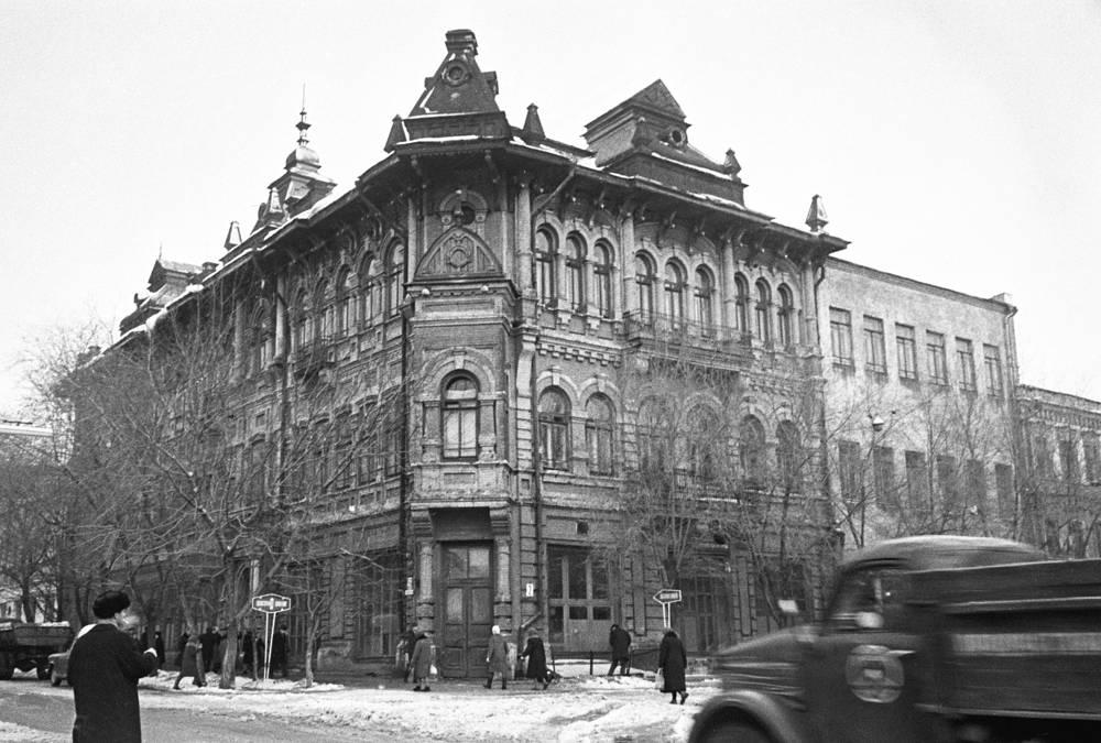 Куйбышев. Дом на Молодогвардейской улице, в котором в годы Великой Отечественной войны находился филиал ТАСС