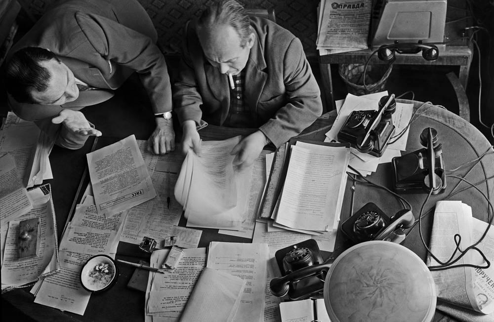 Выпускающие редакции иностранной информации Телеграфного агентства Советского Союза, 1962 год