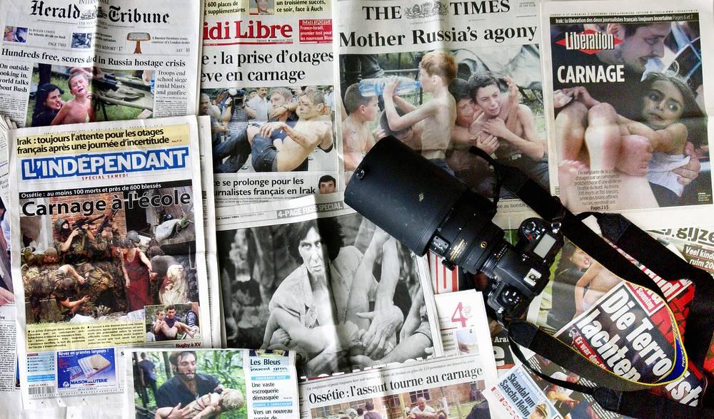 Публикации фоторепортажей о событиях в Беслане