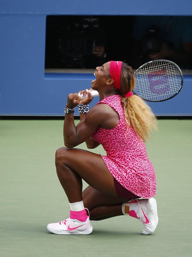 Только что Серена Уильямс вышла в финал домашнего US Open