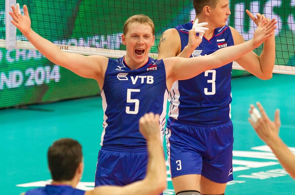 Радость российских волейболистов