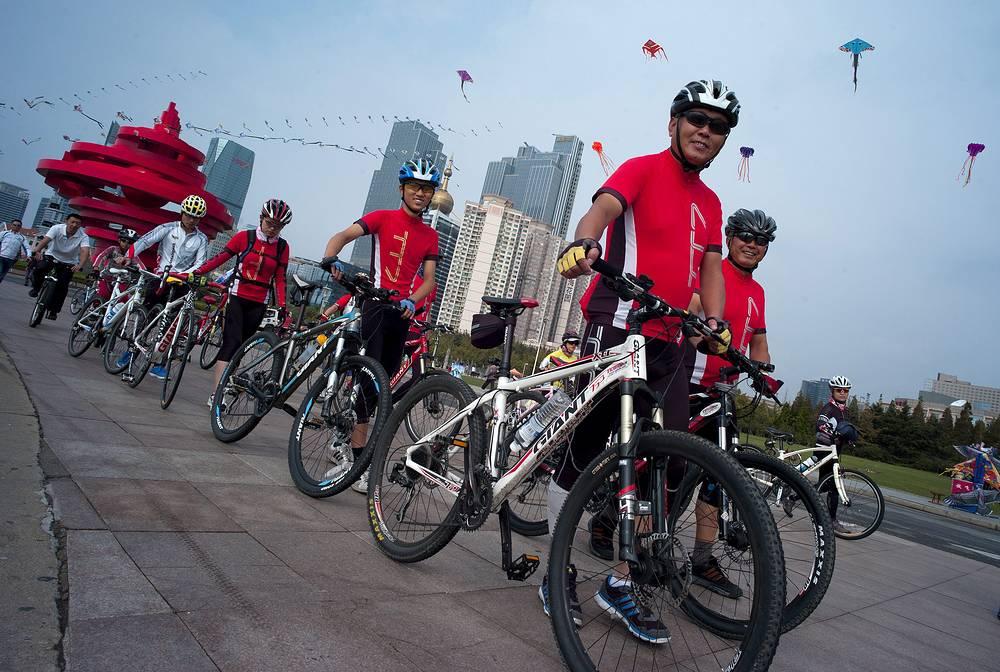 День без автомобиля в китайском Циндао, 2012 год