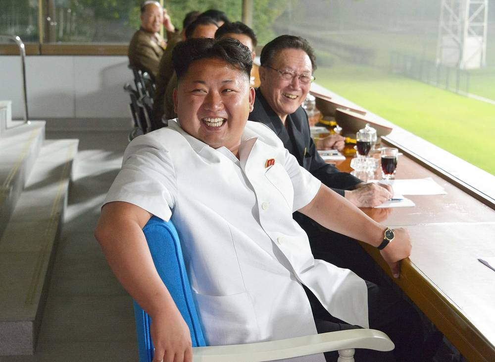 Футбольный матч в Пхеньяне, 2014 год