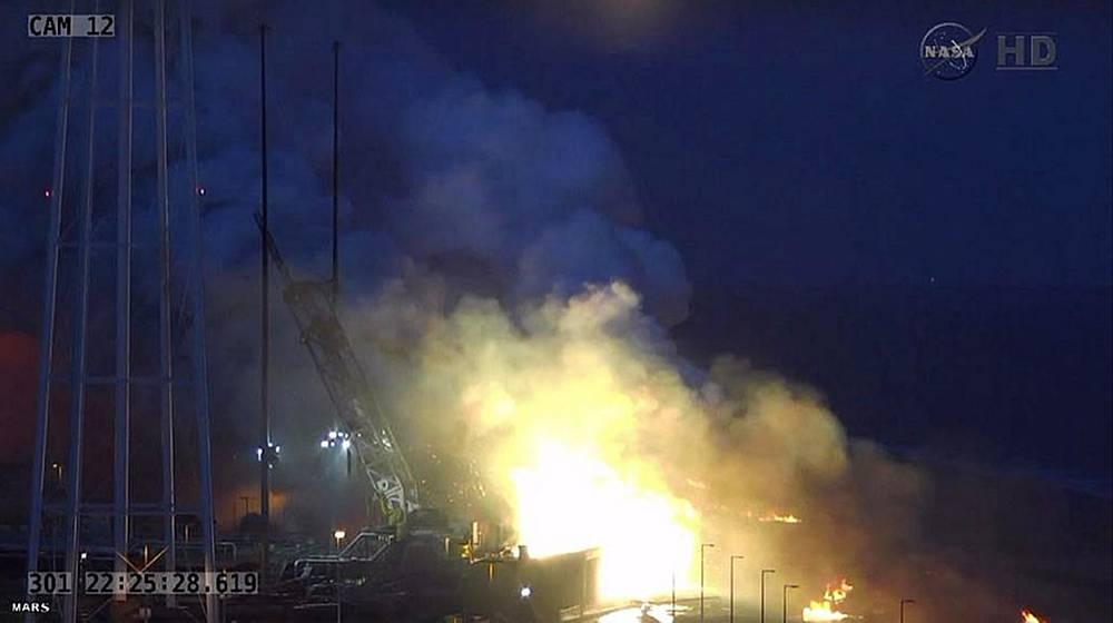 В результате крушения корабль Cygnus полностью разрушен