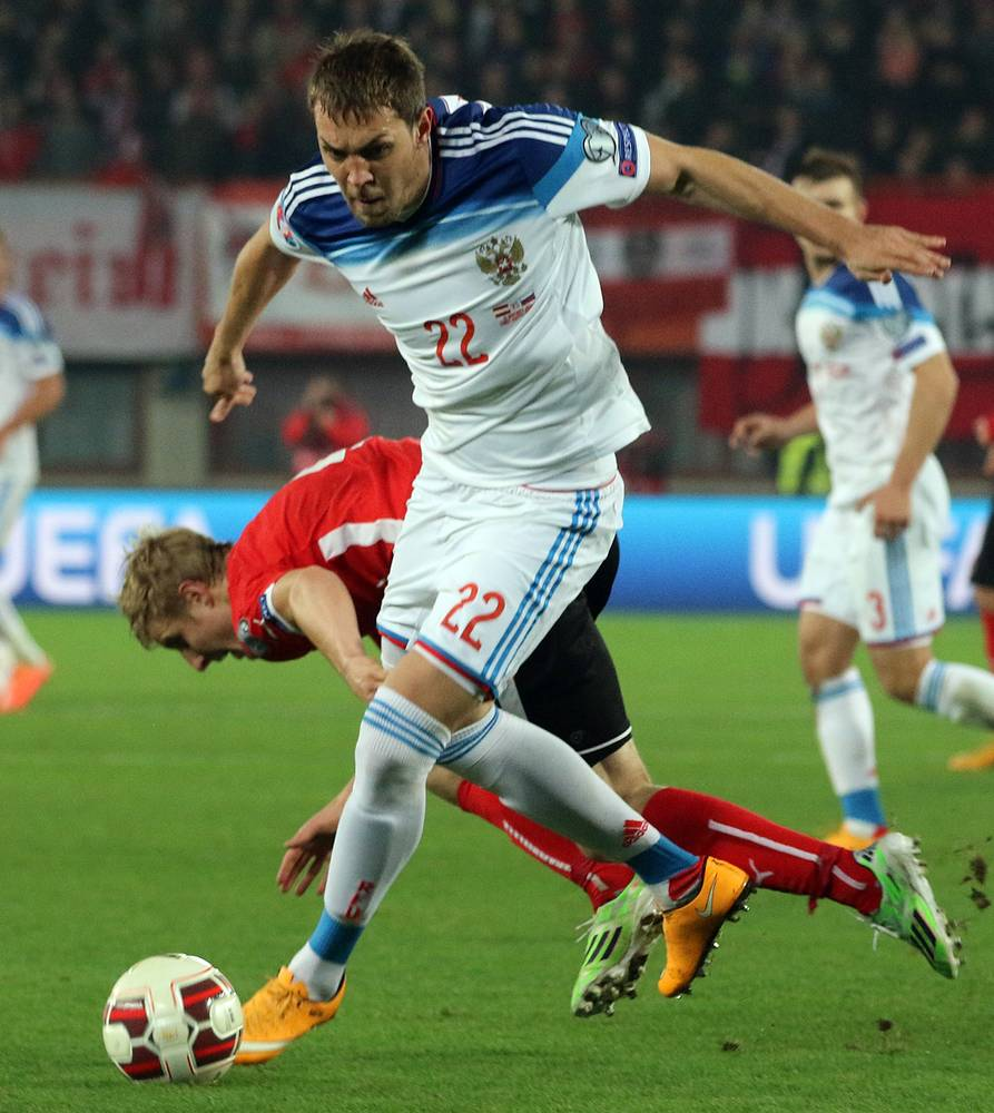 Выход на поле форварда Артема Дзюбы не повлиял на исход матча, австрийцы довели дело до победы
