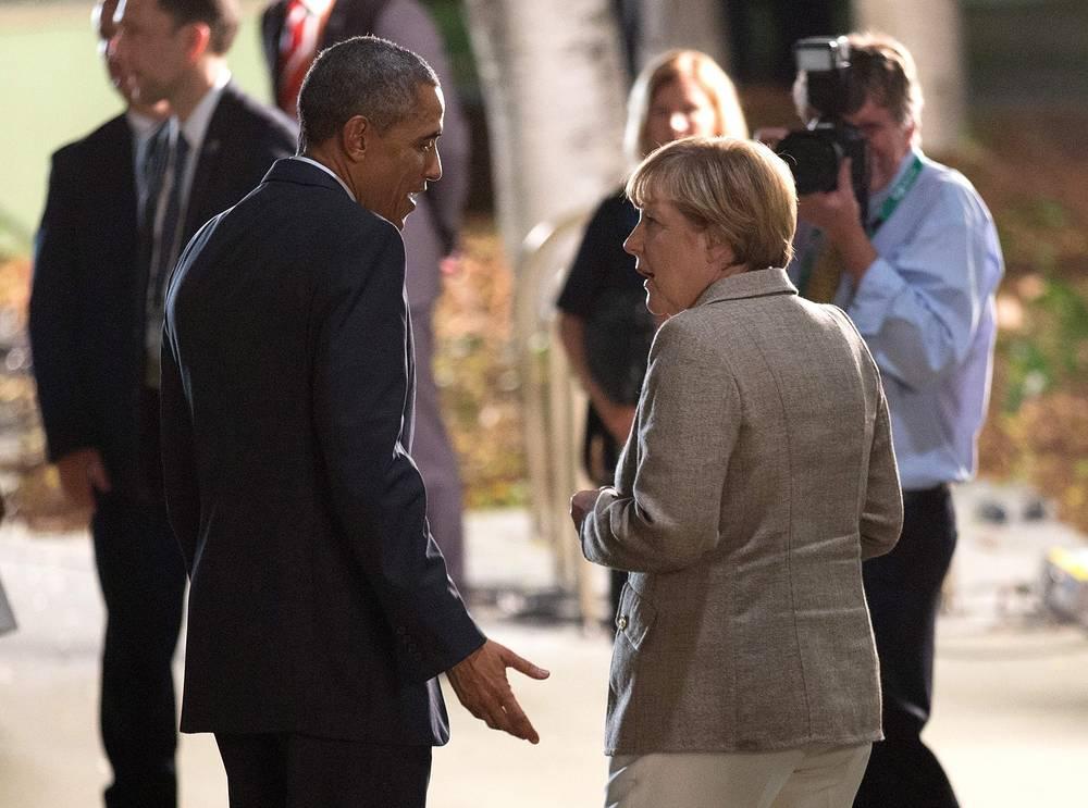 Президент США Барак Обама и канцлер Германии Ангела Меркель на саммите G20