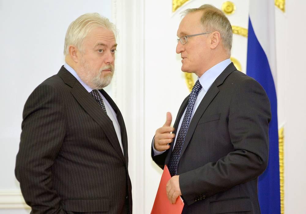 Вице–губернатор Игорь Дивинский и представитель губернатора в Законодательном собрании Михаил Бродский