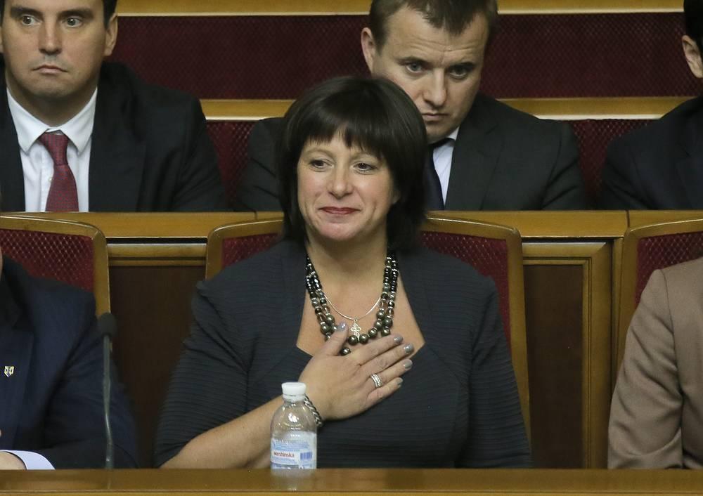 Министр финансов Наталья Яресько на заседании Верховной рады
