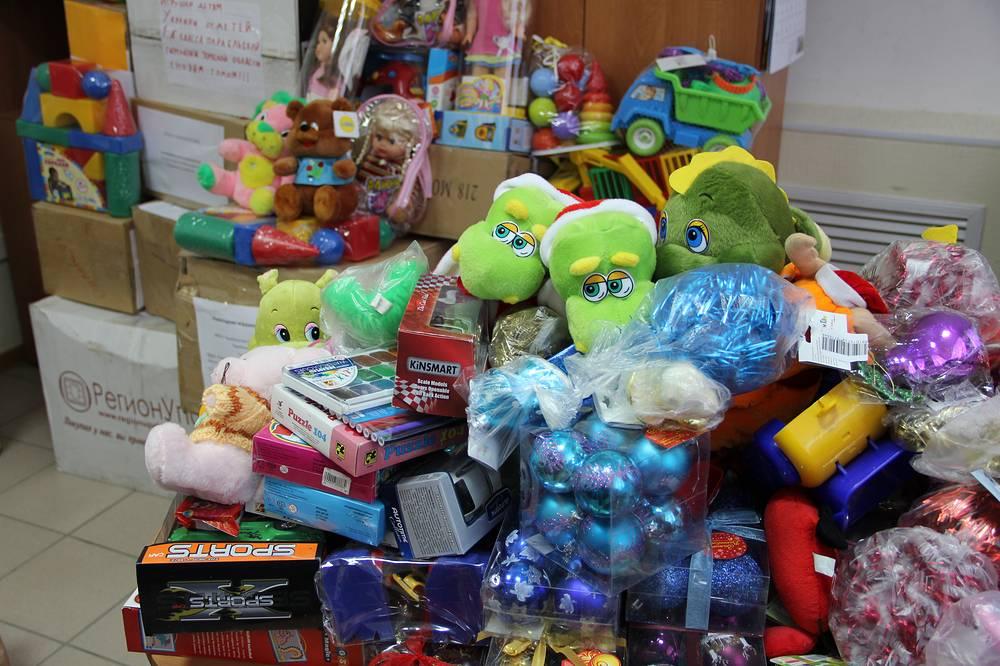 Игрушки, собранные в Томской области для детей из Луганской и Донецкой областей