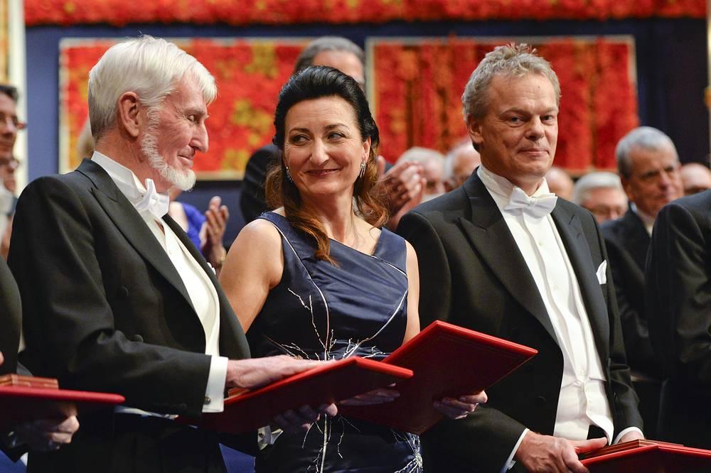Лауреаты Ноебелевской премии в области физиологии и медицины Джон О'Киф , Май-Брит и Эдвард Мозер