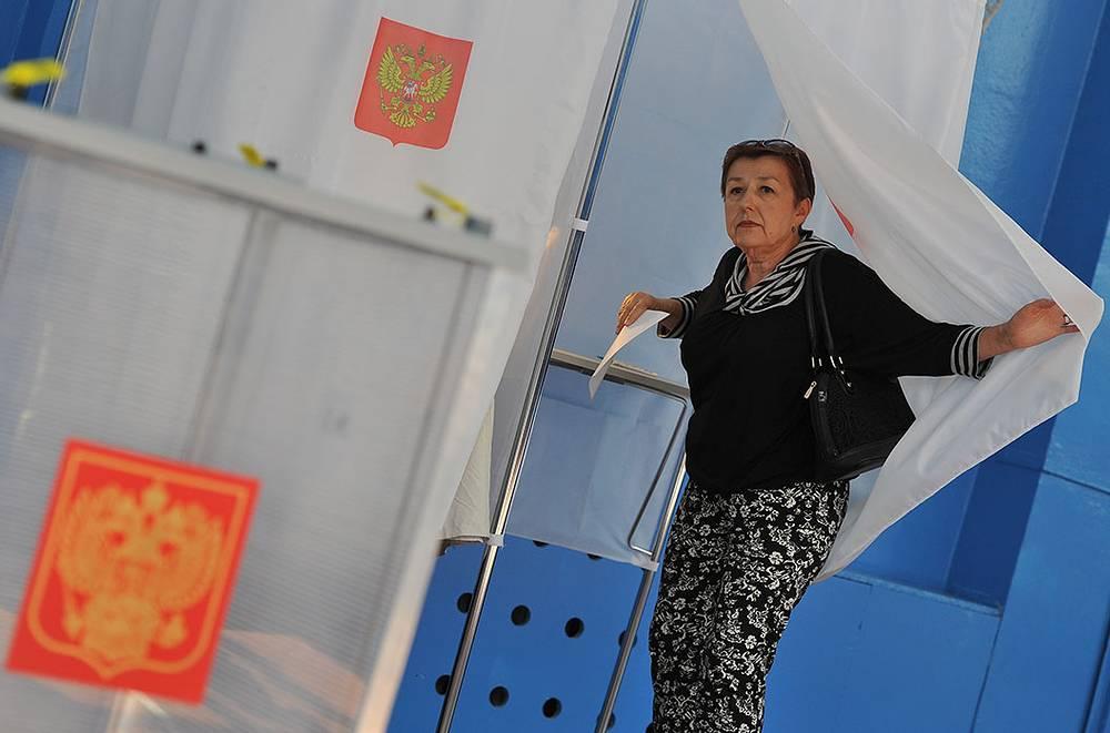 14 сентября 2014 года в России прошел единый день голосования. На фото: избирательный участок в Орловской области