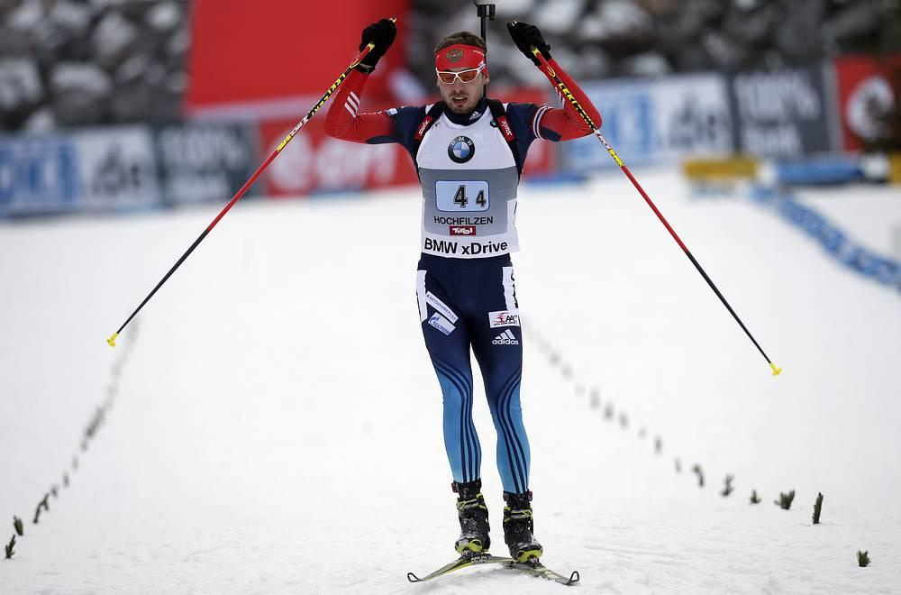 Антон Шипулин помог сборной России одержать первую победу в сезоне