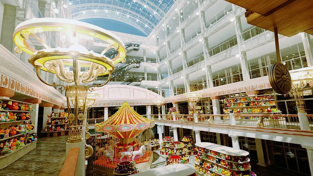 """После реконструкции универмаг откроется под новым названием - """"Центральный детский магазин на Лубянке"""". 3D-модель центрального зала, 2012 год"""