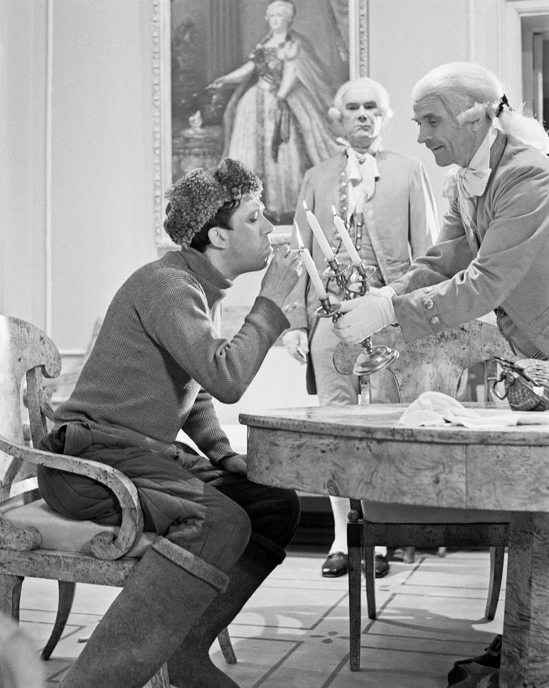 Во время киносъемок, 1962 год