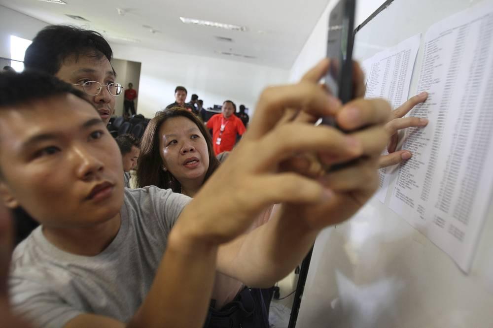 Списки пассажиров пропавшего самолета компании AirAsia
