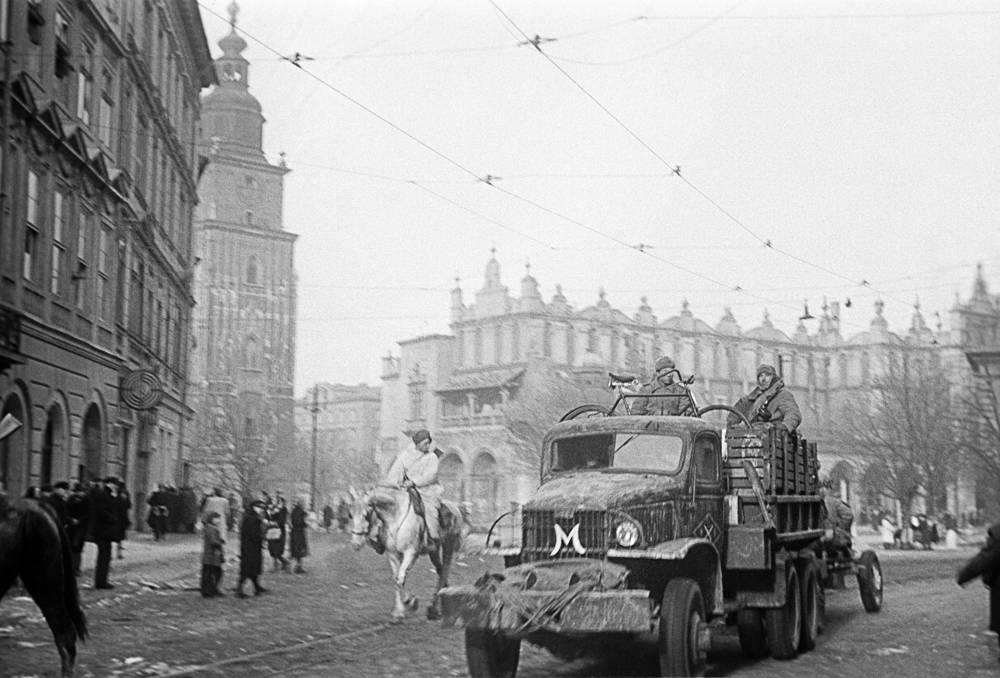 Освобожденный Краков, январь 1945 года