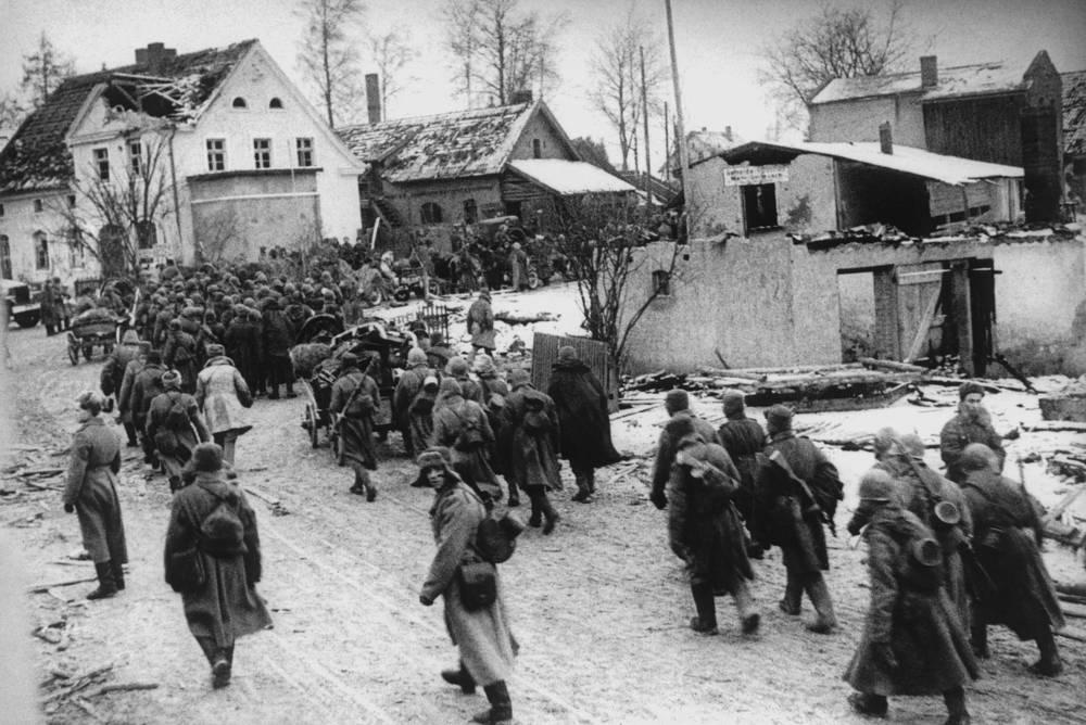 Советские войска на подступах к Кенигсбергу