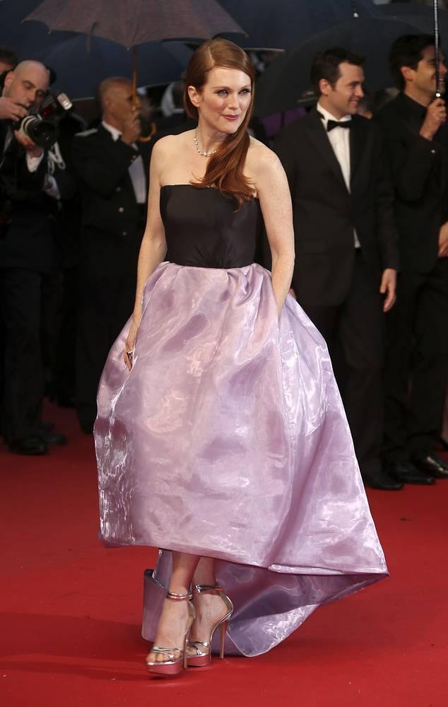 """Джулианна Мур на премьере фильма """"Великий Гэтсби"""" на 66-м Международном кинофестивале в Каннах, 2013 год"""