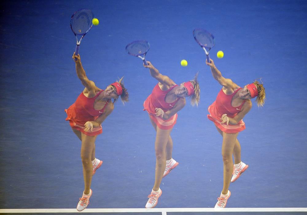 Мария Шарапова в матче 3-го круга выиграла со счетом 6:1, 6:1