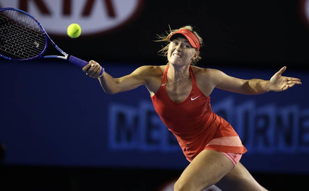 Мария Шарапова в матче 1-го круга выиграла со счетом 6:4, 6:1
