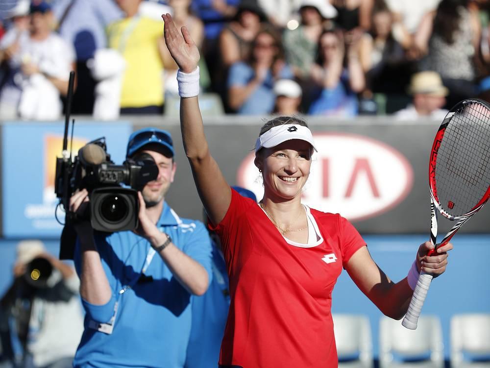 Екатерина Макарова в матче 1-го круга выиграла со счетом 6:2, 6:2