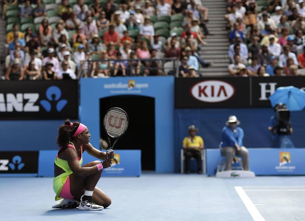 Серена Уильямс пробилась в финал Australian Open, обыграв соотечественницу Мэдисон Кис со счетом 7:6 (7:5), 6:2