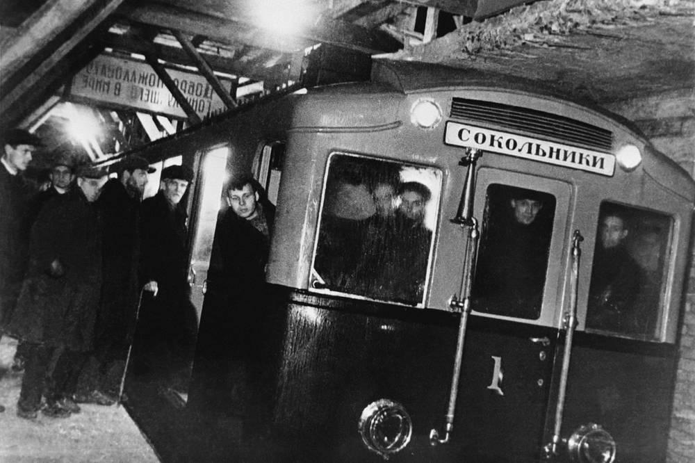 Первый поезд Московского метро, 1934 год