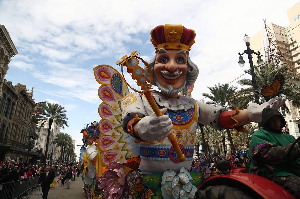 Парад Марди Гра в Новом Орлеане в этом году проходил с 13 по 17 февраля